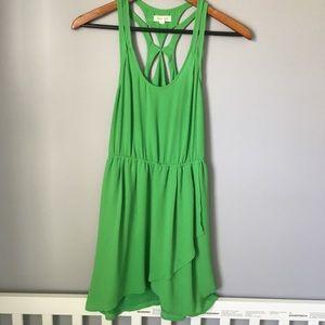 C.3 silence +noise green dress